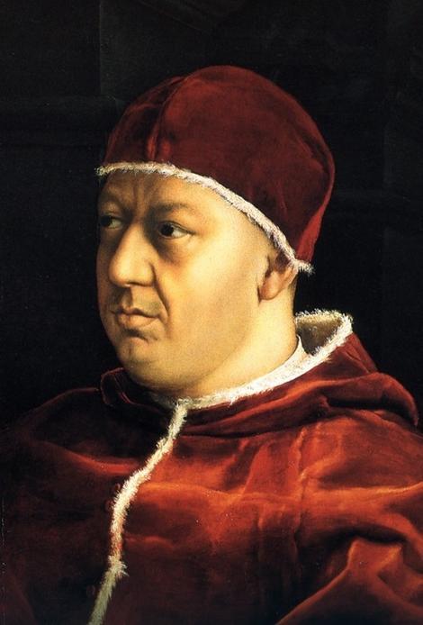 Rafael, Papa Lav X, 1518-19. (detalj)