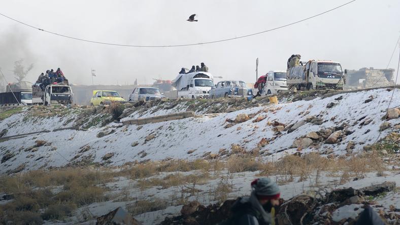 Ewakuacja rebeliantów z Aleppo