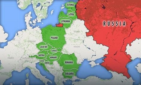 """Mapa zemalja """"Inicijative tri mora"""" i zaustavljanje ruske energetske ekspanzije"""