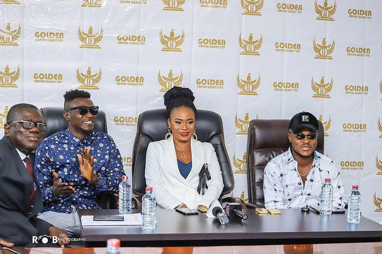 President of Golden Empire Legacy Joana Gyan signs a new record deal with the  Ghanaian Music group Keche