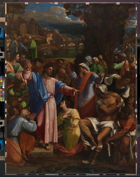 Sebastijano del Pjombo, Lazarevo vaskrsenje, 1517-19.