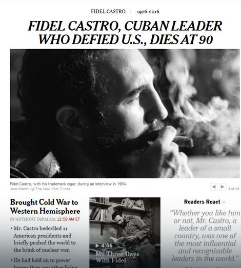 """Naslovna strana sajta lista """"Njujork tajms"""""""