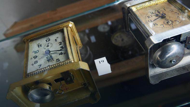 Гданьск: выставка антикварных будильников