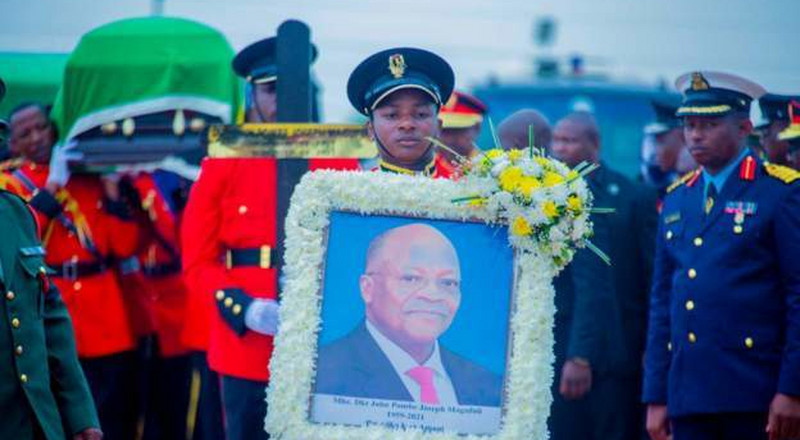 State burial ceremony underway for Tanzania's Magufuli