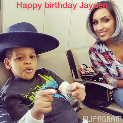 Juliet Ibrahim with her son, Jaden