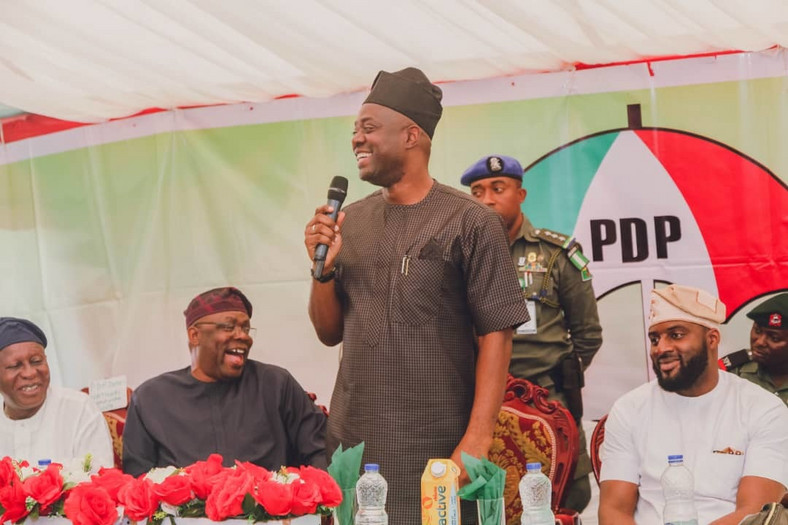 Meeting of the South West PDP hosted by Governor Seyi Makinde in Ibadan Oyo state [ Twitter/@seyiamakinde]