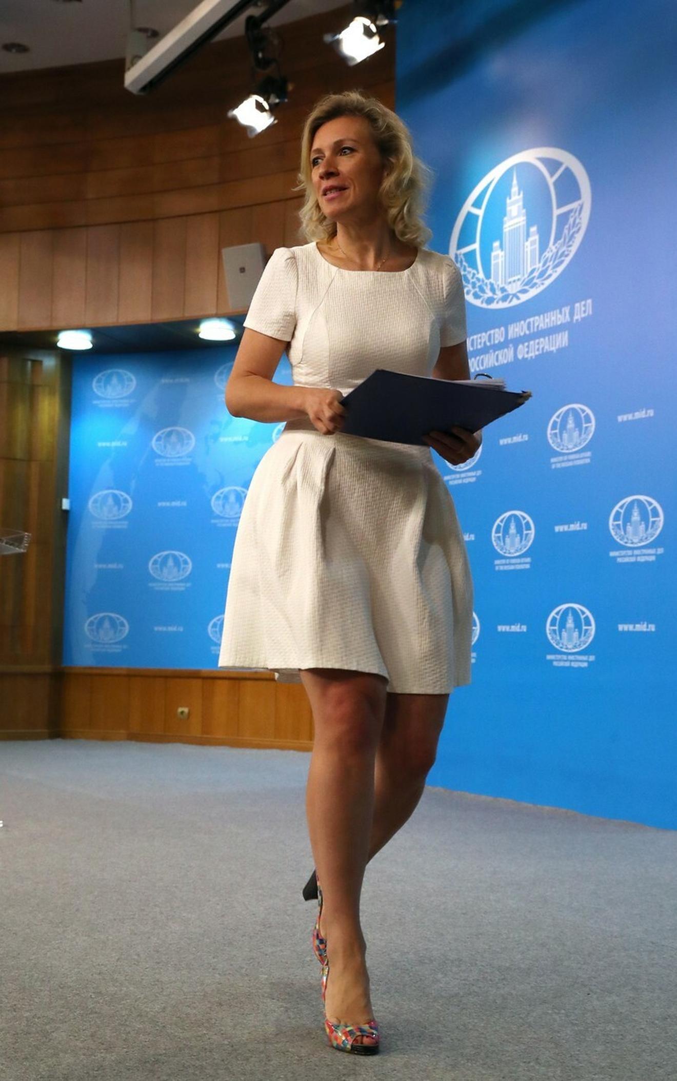 Marija Zaharova, portpartolka Ministarstva spoljinih poslova Rusije