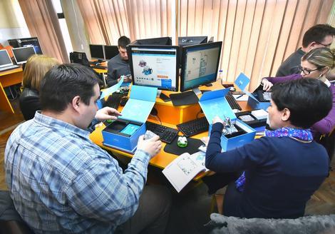 Nastavnici informatike na današnjoj obuci