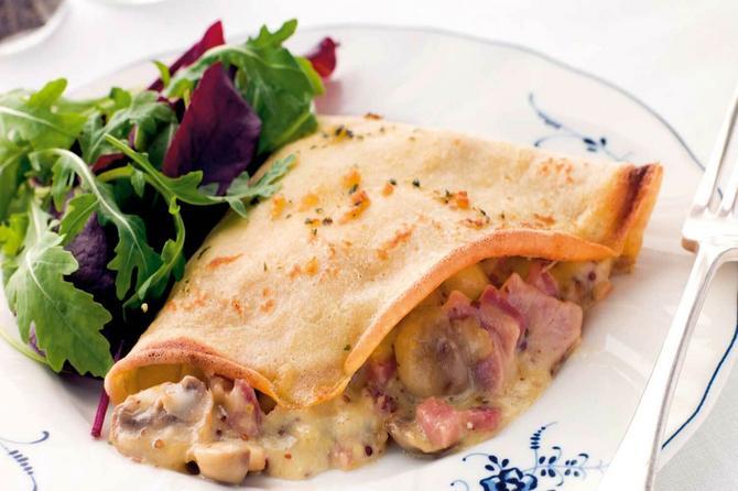 Večera za tili čas: Slane palačinke na tri načina