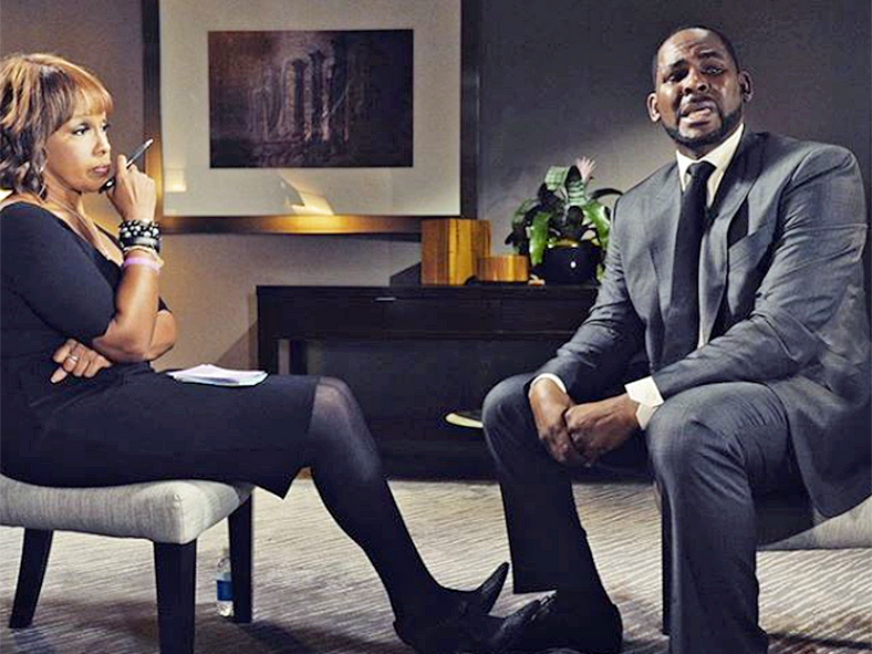 R.Kelly and Gayle King during his now famous interview [Variety]