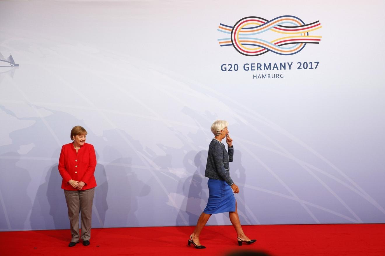 Angela Merkel, premijerka Nemačke, i Kristin Lagard na Samitu G20 u Hamburgu