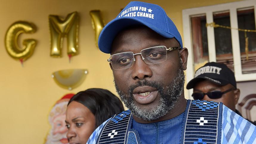 George Weah valgt til Liberias president