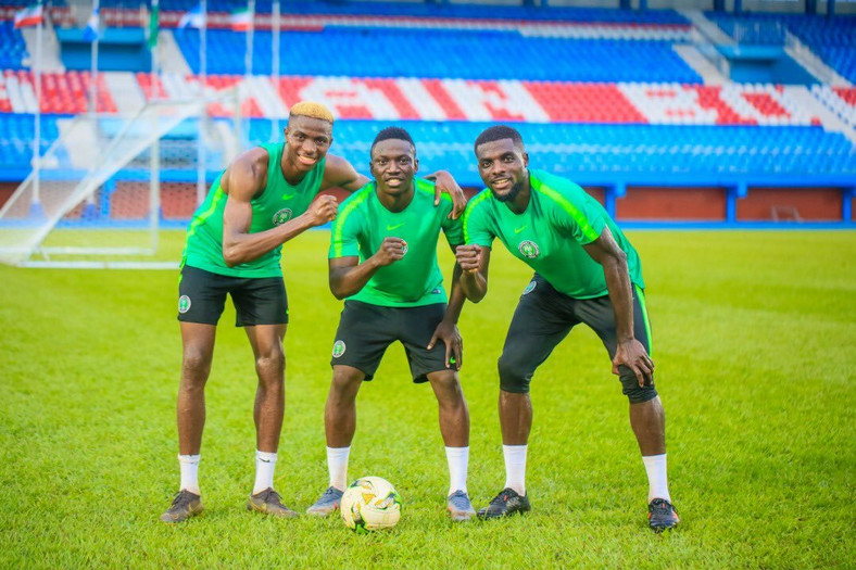 The Super Eagles have been training everyday at the Stephen Keshi Stadium in Asaba (Twitter/Super Eagles)