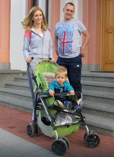 Gorana i Marko Stanković sa sinom Vukom
