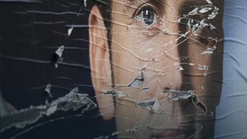 Plakat wyborczy Emmanuela Macrona