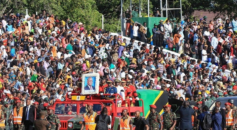 Four children dead in a stampede at Magufuli's funeral