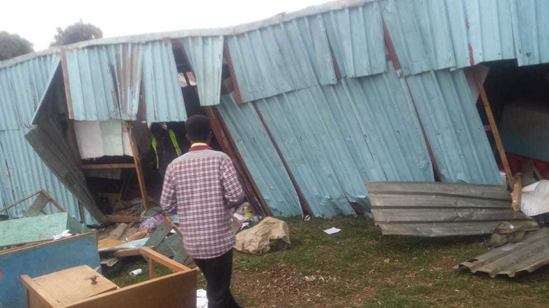 Scene at Precious Talents School where pupils were feared dead on Monday morning after building collapsed