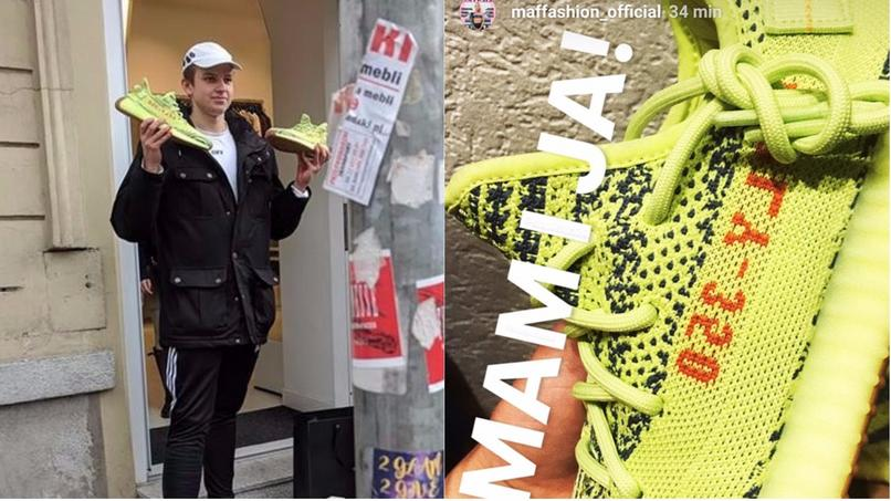 Polska premiera Yeezy Boost 350 V2  w odcieniu Semi Frozen Yellow