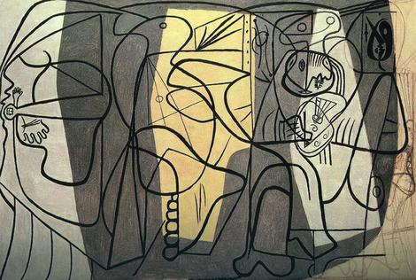Artist and His Model by Pablo Picasso
