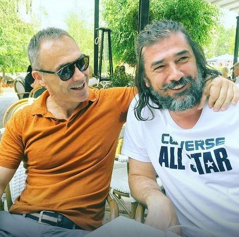 Vojin Ćetković sa prijateljem