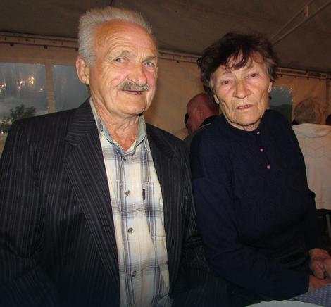 Najstariji bračni par na svečanosti - Živko i Vukosava Stanojević