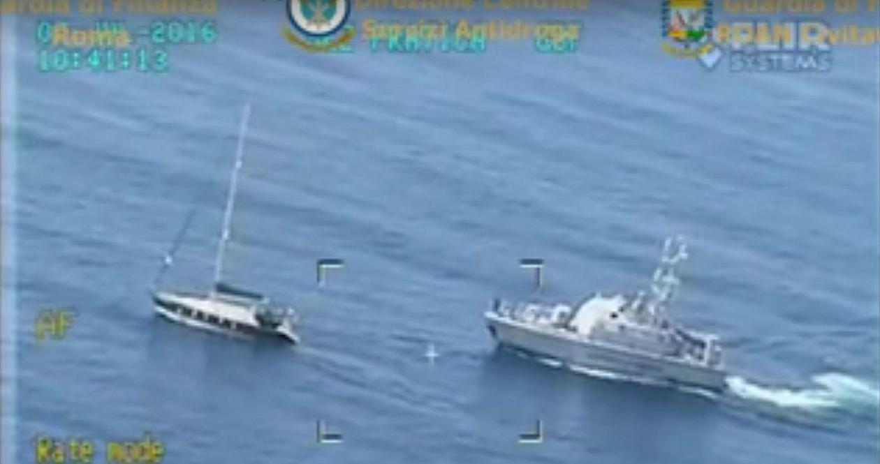 Przechwycenie narkotyków na morzu w sprawie Klapy
