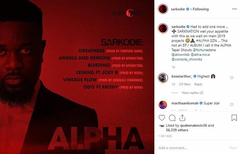 ALPHA tracklist