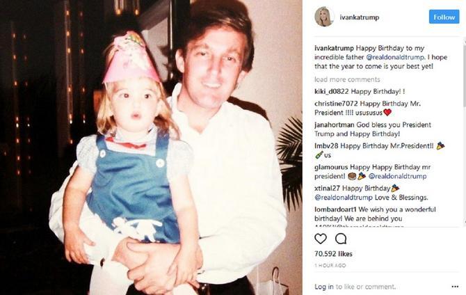 Ivanka Tramp sa ocem Donaldom Trampom pre nekoliko decenija
