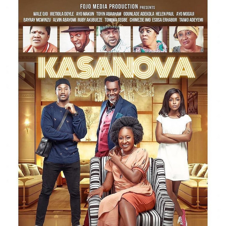 """Second time's the charm at love for Ireti Doyle, Wale Ojo in new movie """"Kasanova,"""" featuring Toyin Abrahams, AY, Odunlade Adekola, and more!!"""