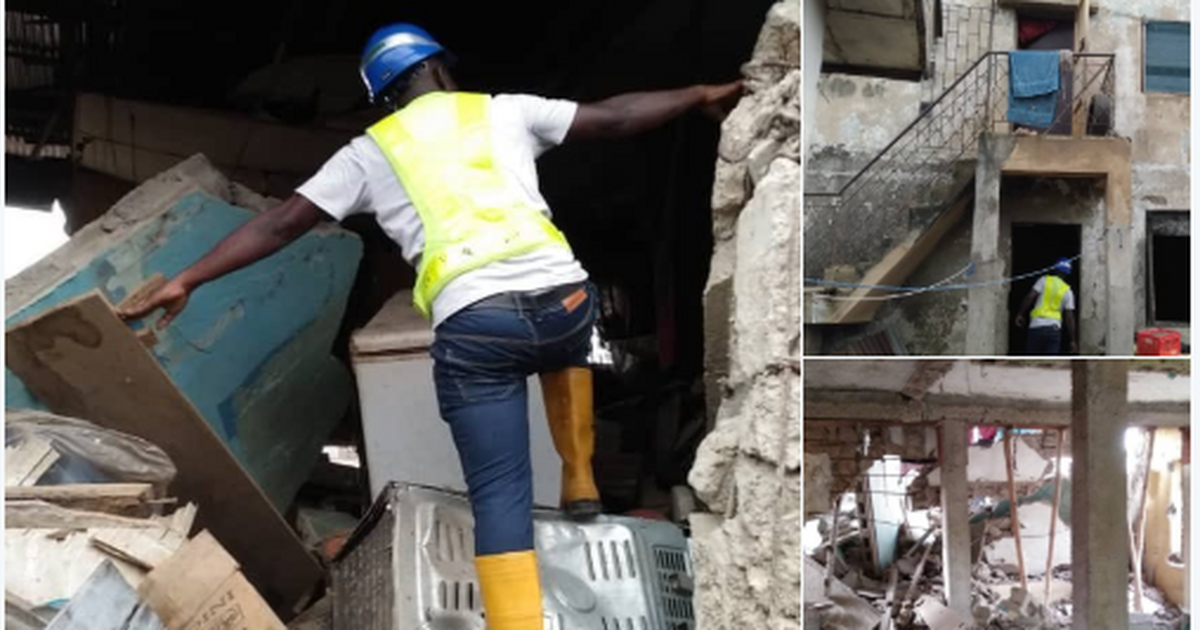 2 people reportedly injured as 1 storey building collapses in Oshodi