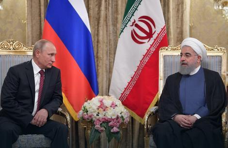 Podrška Moskve: Vladimir Putin i Hasan Rohani, predsednik Irana