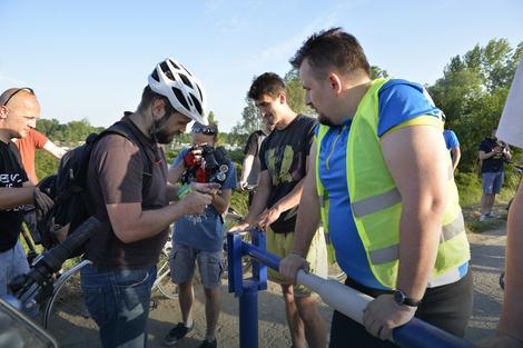 """Biciklisti su simbolično """"zaključali rampu"""""""