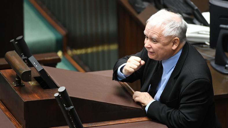 Jarosław Kaczyński w Sejmie (19 lipca)