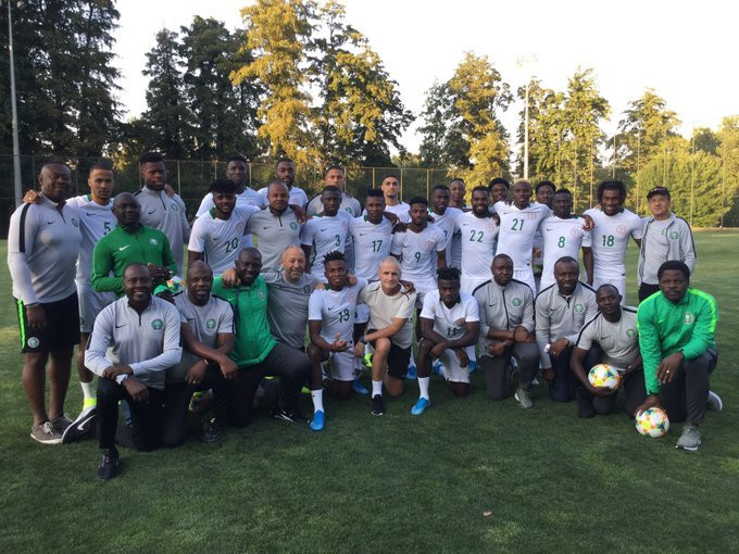 The Super Eagles of Nigeria will face Ukraine on Tuesday in Dnipro (Twitter/NFF)
