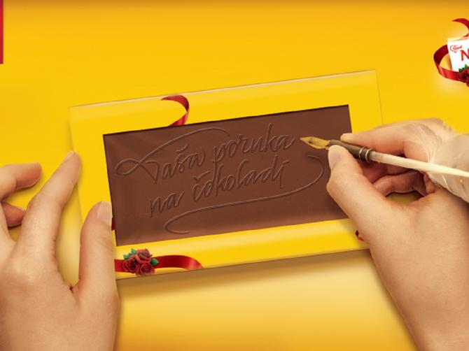 Najlepše želje  ispisane na čokoladi