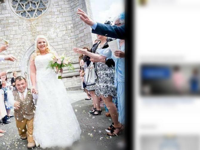 Kada je mlada od mladoženje viša 70 centimetara, desi se OVAKAV svadbeni poljubac!