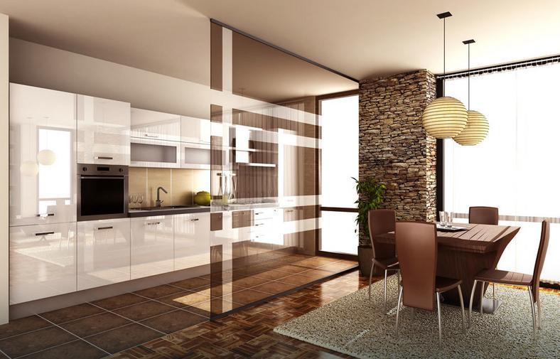 jak efektownie oddzieli kuchni od salonu rodzaje przepierze dom. Black Bedroom Furniture Sets. Home Design Ideas