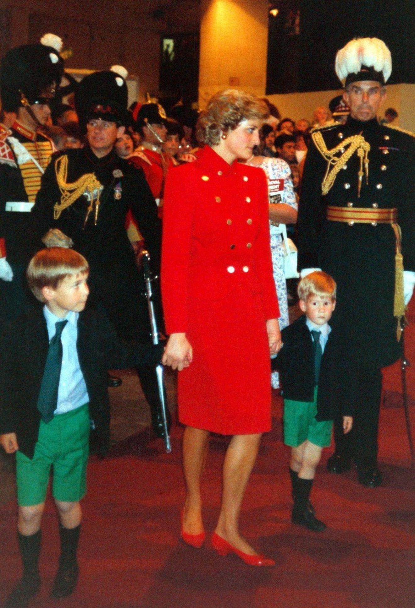 Princeza od Velsa sa sinovima pre dvadesetak godina