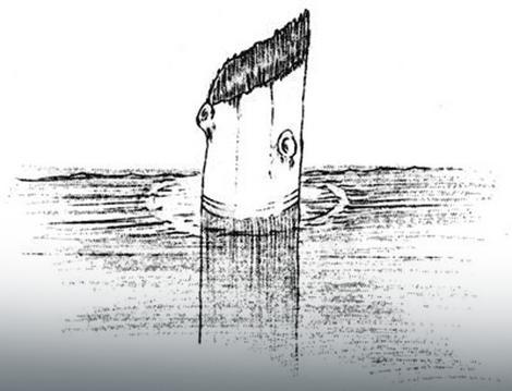 """Crtež """"Starca u jezeru"""""""