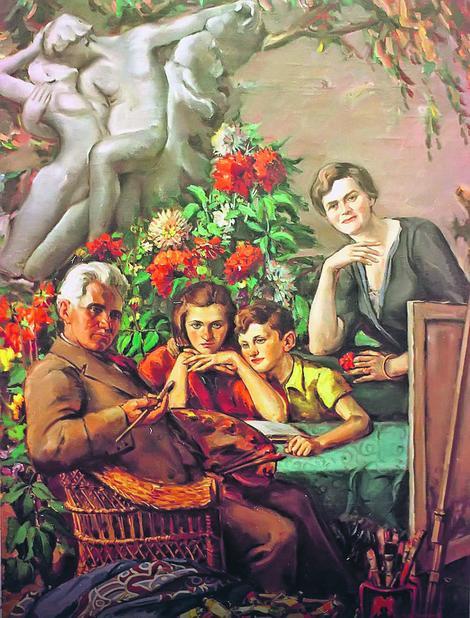 Mihailo Milovanović sa porodicom