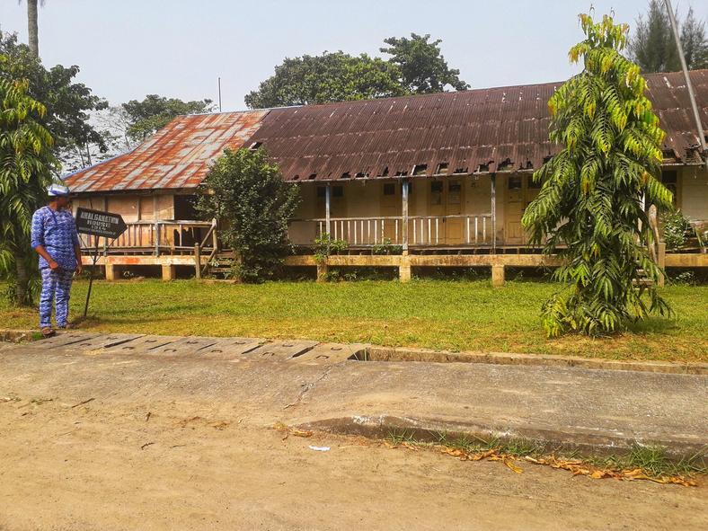 Front view of the amalgamation house [Twitter/Haroldwrites]