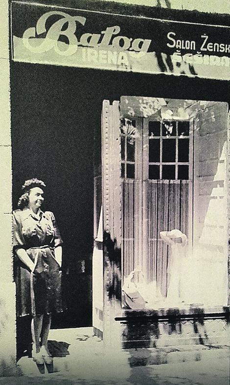 Irena Balog, poslednja subotička modiskinja, ispred svoje radnje