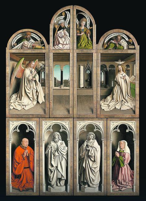 Ganski oltar, zatvoren, posle restauracije Saint Bavo's Cathedral Ghent