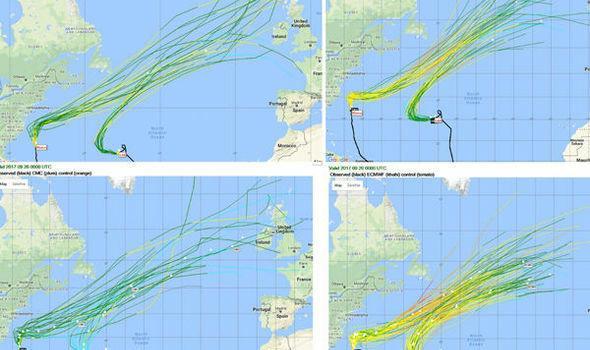 Predviđeno spajanje dva uragana