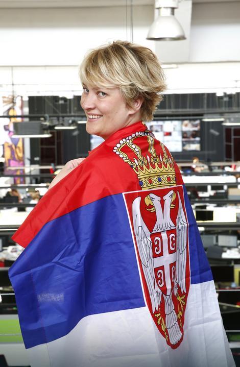 Navijač Srbije u Istanbulu: Marina Maljković