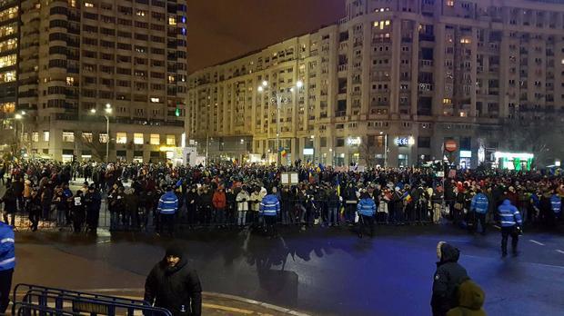 Proteste in Piata Victoria