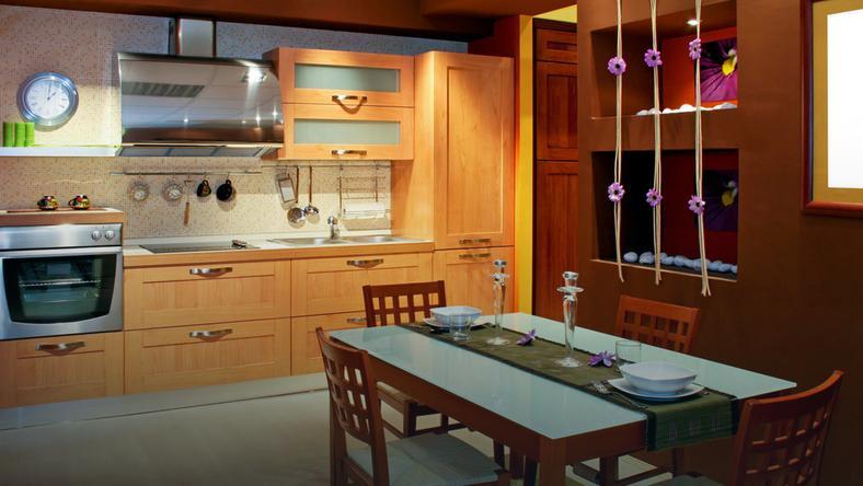 Mozaika w kuchni  Dom -> Kuchnia Plytki Mozaika