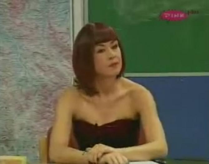 "Dragana Vujić kao Profesorka u ""Kursadžijama"""