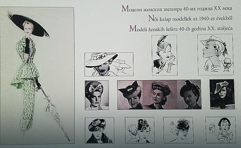 Modeli ženskih šešira 40- tih godina 20. veka