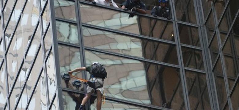 Zatrzymano mężczyznę, który próbował wspiąć się na Trump Tower